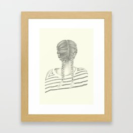 French braids 01 Framed Art Print
