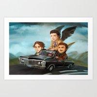 supernatural Art Prints featuring Supernatural by RAVEFIRELL