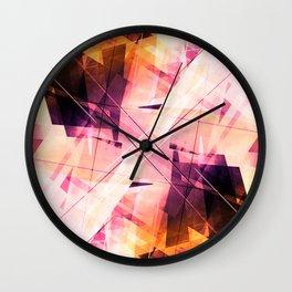 Sunbound - Geometric Abstract Art Wall Clock