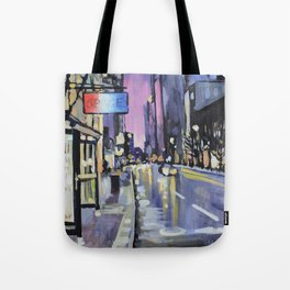 Evening Lights of the Burgh Tote Bag