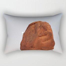 Valley of Fire, Moon Rise, Nevada Desert Rectangular Pillow