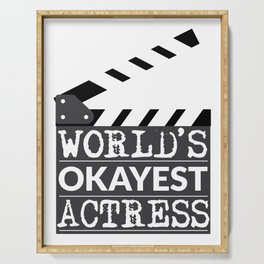 Funny Actress Gift - World's Okayest Actress  Serving Tray