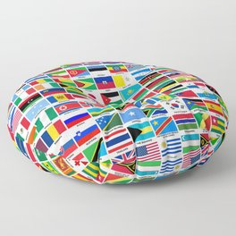 Flags Of The World Floor Pillow