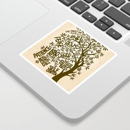 Fruit of the Spirit (Monotone) Sticker