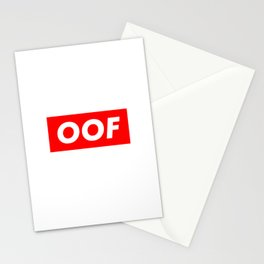 OOF Trendy Meme - Funny Slang Stationery Cards