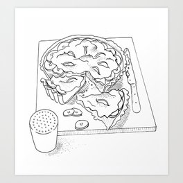 Banoffee Pie Art Print