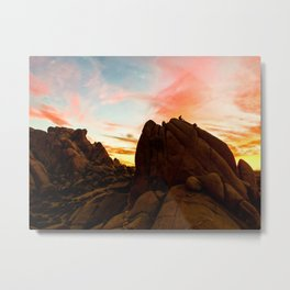 Watching the sunset in Joshua Tree Metal Print