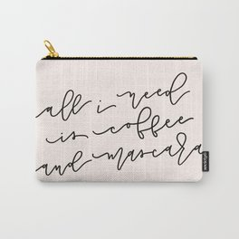 Coffee & Mascara Carry-All Pouch