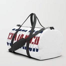 Costa Rica Font with Costa Rican Flag Duffle Bag