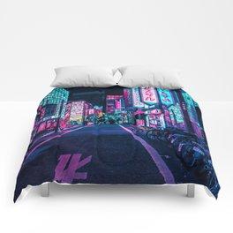 A Neon Wonderland called Tokyo Comforters