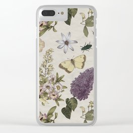 spring flowers with butterfly and beetles II Clear iPhone Case