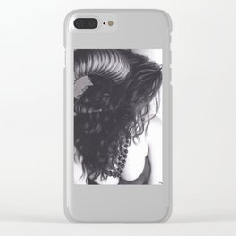Realism Drawing of Sexy Horned Beast Clear iPhone Case