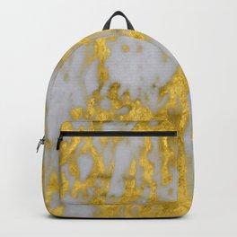 Luxury 24-Karat Gold Marble on Velvet Cream Backpack
