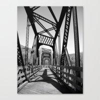 bridge Canvas Prints featuring Bridge by Danielle Podeszek