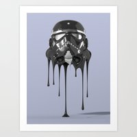 Shadowtrooper Melting 01 Art Print