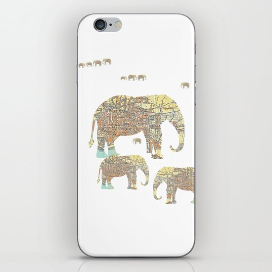 Follow That Elephant iPhone & iPod Skin