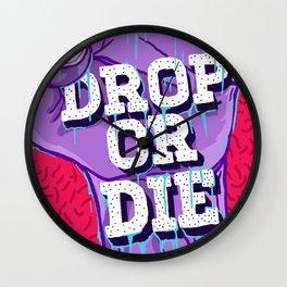 Drop or Die Wall Clock