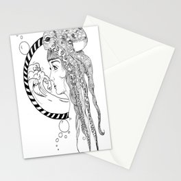 Octopus Woman Stationery Cards
