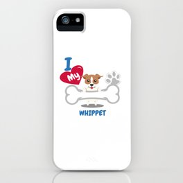 WHIPPET Cute Dog Gift Idea Funny Dogs iPhone Case