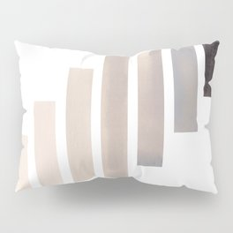 Grey Midcentury Modern Minimalist Staggered Stripes Rectangle Geometric Aztec Pattern Watercolor Art Pillow Sham