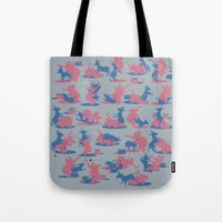 politics Tote Bags featuring Bipartisan Politics by Jeff Szuc