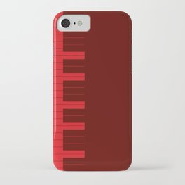 Red Piano Keys iPhone Case