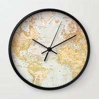 Wall Clocks featuring Pastel World by Sandy Broenimann