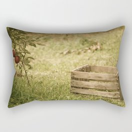 apple crate photograph Rectangular Pillow