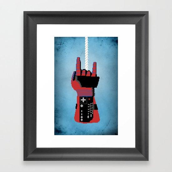 Power Glove Love: Spider-Man Framed Art Print
