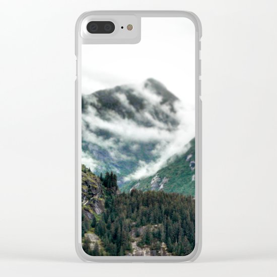 Foggy Mountain Tops Clear iPhone Case