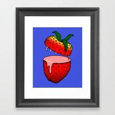 Strawberry Goo Framed Art Print