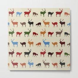 Christmass reindeer pattern Metal Print