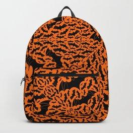 Halloween Bats Radial Pattern Backpack