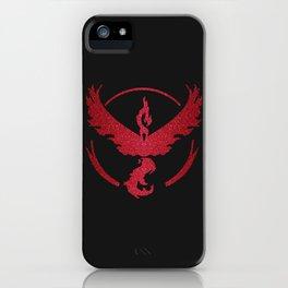 Team Valor Sparkly red sparkles iPhone Case