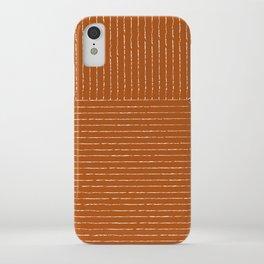 Lines (Rust) iPhone Case