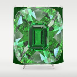 EMERALD GREEN MAY BIRTHSTONES ART Shower Curtain