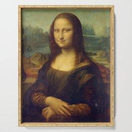 Mona Lisa by Leonardo da Vinci Serving Tray