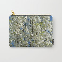 White Flowering Tree Carry-All Pouch