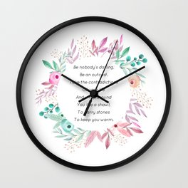 Be nobody's darling - A. Walker Collection Wall Clock