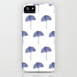 Blue Ginko Leaf - Minimalist Nature iPhone Case