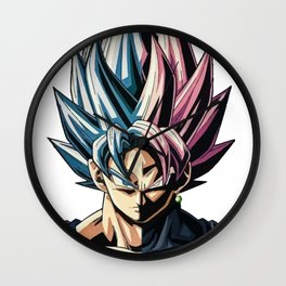 Goku blue and rose Wall Clock