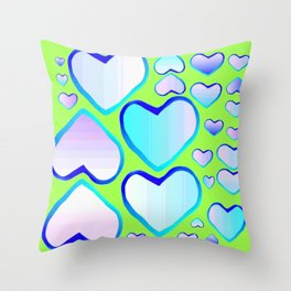 Garden of  hearts Throw Pillow
