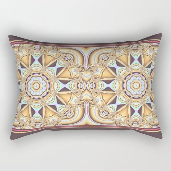 Elegant golden geometric kaleidoscope Rectangular Pillow