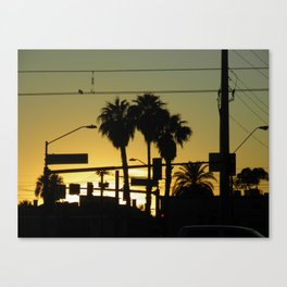 While the Sun Sets  Canvas Print