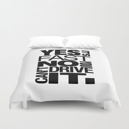 Yes it's fast No you can't drive it v6 HQvector Duvet Cover
