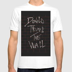 Donald Trump The Wall Mens Fitted Tee MEDIUM White