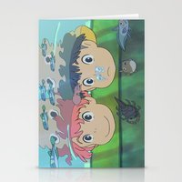 ponyo Stationery Cards featuring Ponyo by Susan Lewis