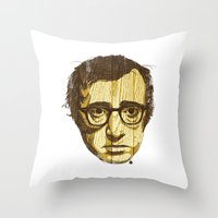 woody Throw Pillows featuring Woody by Ross Zietz