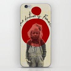 .The future is Female. iPhone & iPod Skin