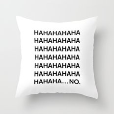 HAHA Throw Pillow